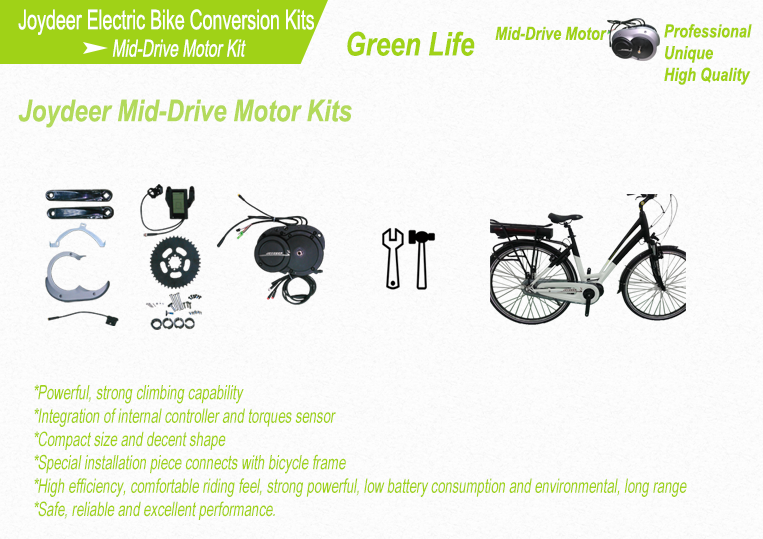 Mid Drive Motor Electric Bike Conversion Kit Joydeer